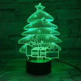 6pcs/pack 3D acrylic Light, with 7 Color Changes, Dimmable LED Night Light, Remote Control and Smart Touch Christmas Tree
