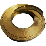 """70mm(2.76"""") x 100m(328ft) (50m/roll 2Rolls/pack) Punched Mirror Gold Aluminum Trim Cap with PC & Foam (Channelume)"""