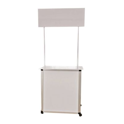 Portable Foldable Promotion Counter Table with Wheel and Lock