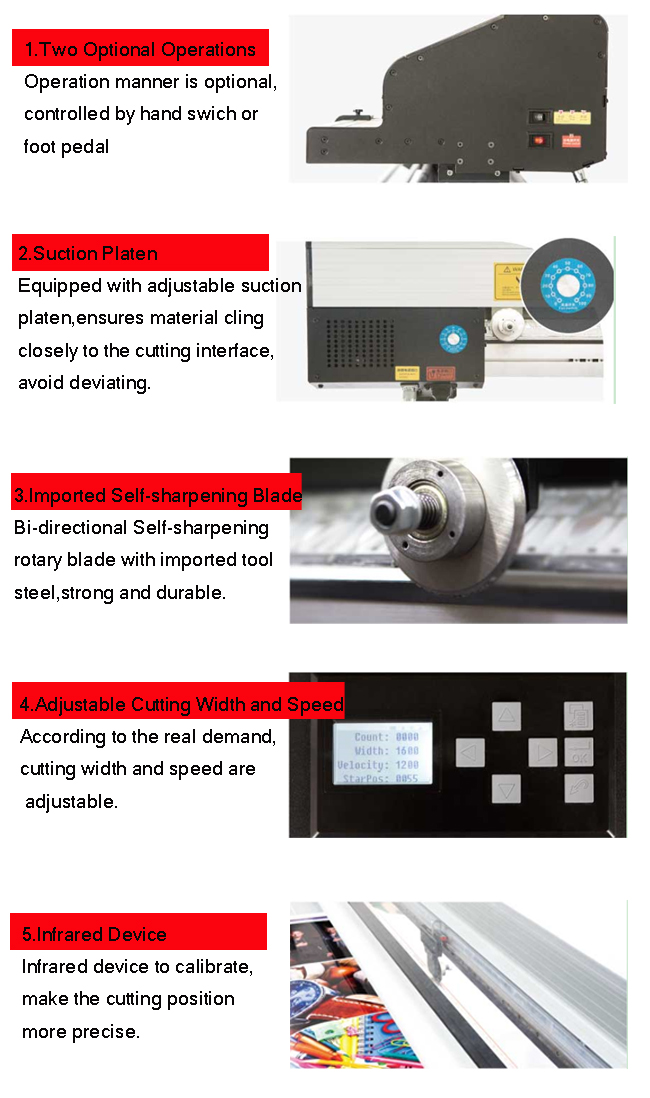 New Electric Rotary Paper Trimmer Semi-Auto Advertising Materials Cutter for Paper, PVC, PP